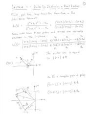 Lecture 11 Sketching Root Locus