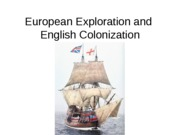Unit 1-European Exploration and English Colonization PPT