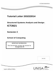ICT2621_203_2014_2_b - Assignment 03 solution.pdf