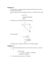 PHY 138 - Chaper 3 Solutions