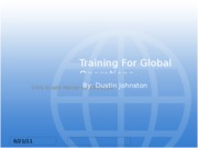 Training For Global Operations
