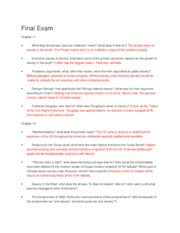 Study Guide Final Exam Answers