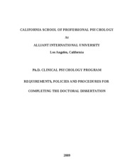 2009 Final Clinical PhD Program Dissertation Requirements (December 13 2009)