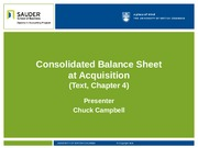 3. Consolidated Balance Sheet at Acquisition