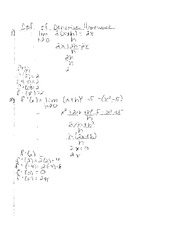 Def. of Derivative homework answers