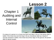 Chap01 Lesson2 Auditing and Internal Control