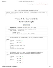 HLTH 236-599 2010 Complete the Chapter 10 Quiz