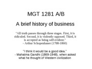 Lecture 2  A Brief History of Business