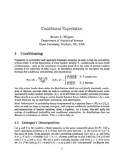 Week 9 Lecture Notes on Conditional Expectations and the Radon-Nikodym Theorem