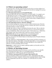 History of Operating Systems notes