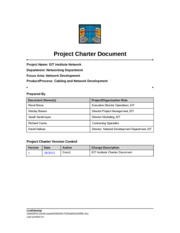itt tech final project charter Unfortunately, too many information technology (it) projects carry high   developing and obtaining final approval of the project charter is ide.