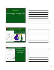 Ch 24 - The Origin of Species 3 slides per page)