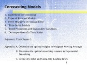 Topic 5 Forecasting