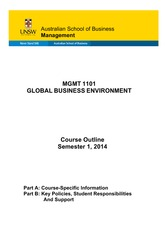 MGMT1101_Global_Business_Environment_S12014
