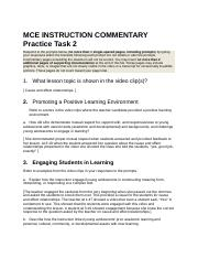 MCE INSTRUCTION COMMENTARY Practice Task 2.docx