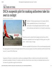 DGCA suspends pilot for making airhostess take his seat in cockpit.pdf