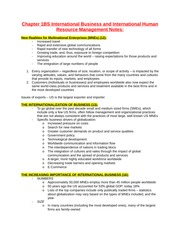 Chapter 1BS International Business and International Human Resource Management Notes