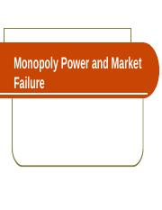 2. Monopoly Power and Market Failure