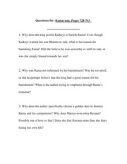 Dialectical Journal - Ramayana, pages 728-743