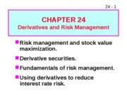 24 Derivatives and Risk Management