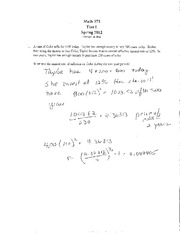 MA373 S12 Test 1 Solutions