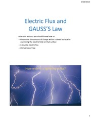 Lecture04 ch22 GaussLaw