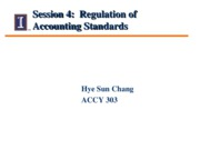 Session 4 - Class Notes - Regulation of Accounting Standards I