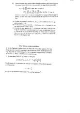Statistical Mechanics and RationingClass Notes week 7