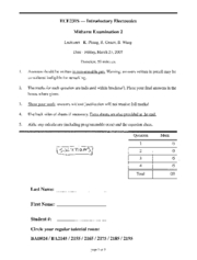 ECE231 - 2007 - Term Test 2 Solutions
