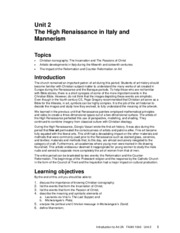 Unit 2- The high renaissance in Italy and Mannerism.pdf