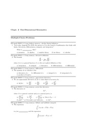 Physics 1 Problem Solutions 18