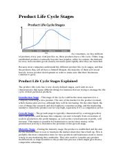 Product Life Cycle Stages_Challenges .doc