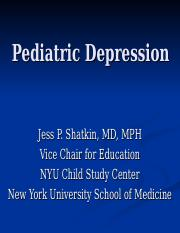 Childhood Depression _NYU Classes ver_.ppt