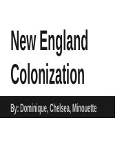 New England Colonization Presentation (APUSH)