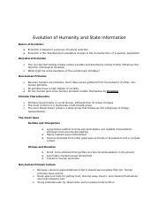 Evolution of Humanity and State Information.docx