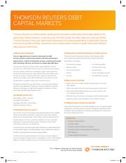 Deals Fact Sheet - Debt Capital Markets - 2016