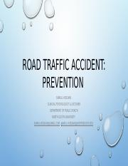Prevention_Road Traffic Accident
