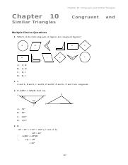 S2 Ch 10 Congruent and Similar Triangles