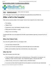 After a fall in the hospital_ MedlinePlus Medical Encyclopedia