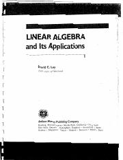 Lay D.C.,Linear algebra and its applications 1994,Addison-Wesley Pub