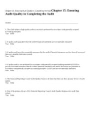 Chapter 15 Ensuring Audit Q