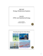 Lecture20 OTEC and Geothermal Energy for Energy Infrastructual system