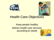 Health Care Objectives