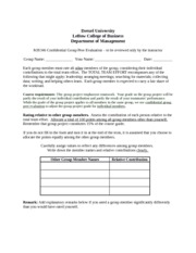 MIS346 - Group Evaluation Form
