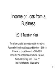 Chapter 06 - PowerPoint - Income or Loss from a Business -   2013
