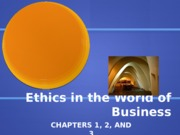 Week 1-Ethics in the World of Business (Ch.1-3)