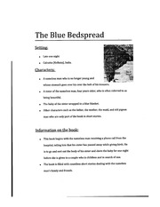 The Blue Bedspread Class Notes