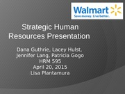 Strategic Human Resources PPT