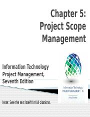 Chapter 5- Project Scope Management