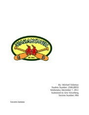 Marketing Report- Camp Wahanowin